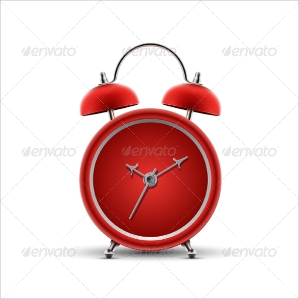 red clock template