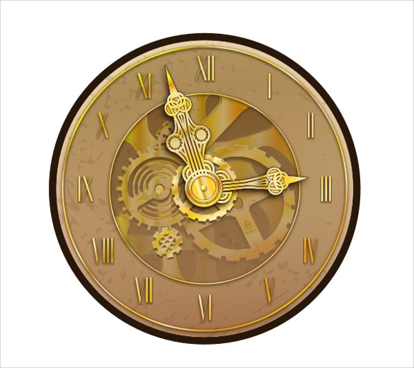 clock party template