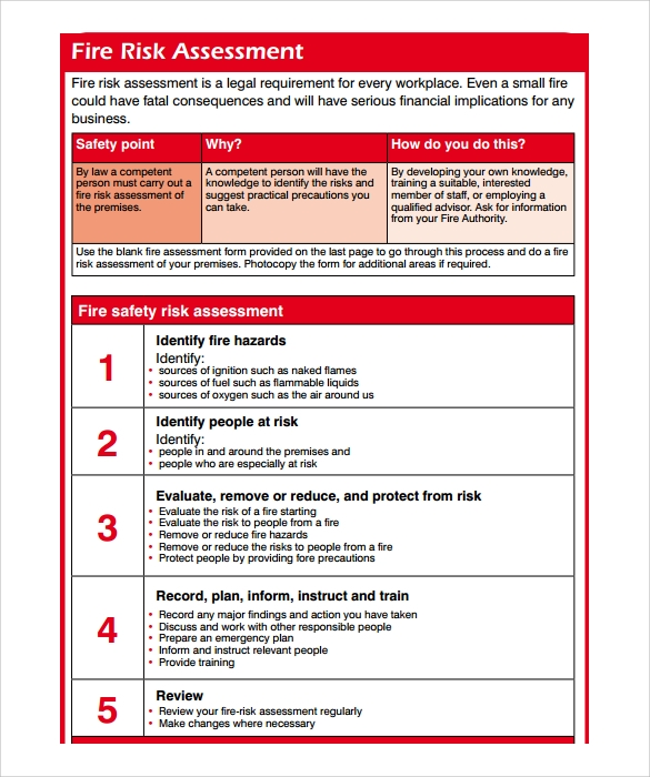 Fire Risk Assessment Template