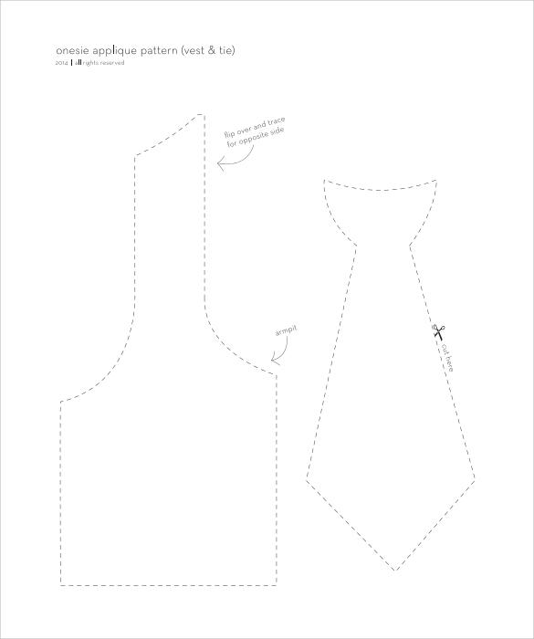 onesie necktie template