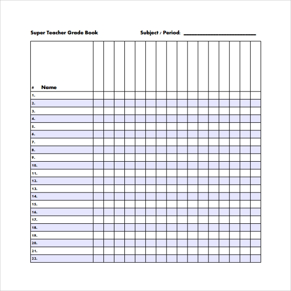 Sample Gradebook Template - 7+ Free Documents In Pdf, Word, Excel, Psd
