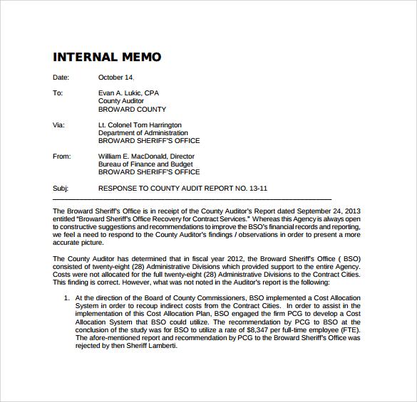 sample internal memo template | datariouruguay