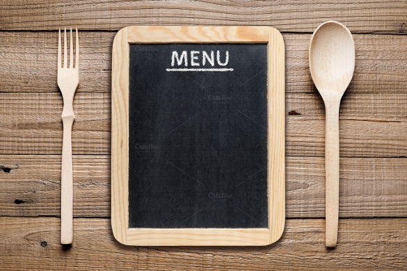 chalk board blank menu template