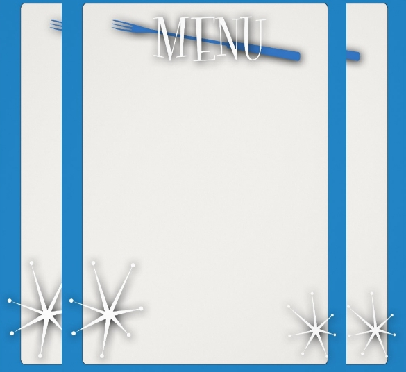 bluebackground blank menu template