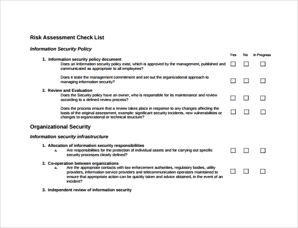 Security Risk Assessment - 9+ Download Free Documents In Pdf, Word