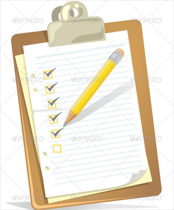 simple blank checklist