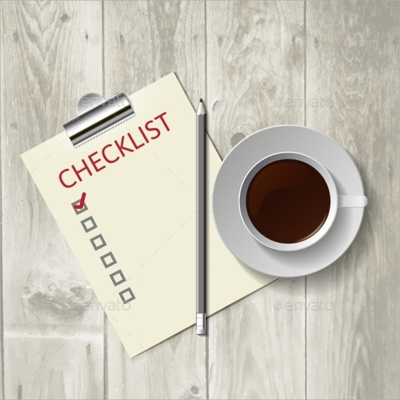sample blank checklist