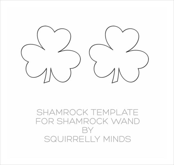 simple shamrock template