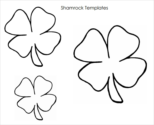 Crazy image in free printable shamrock template