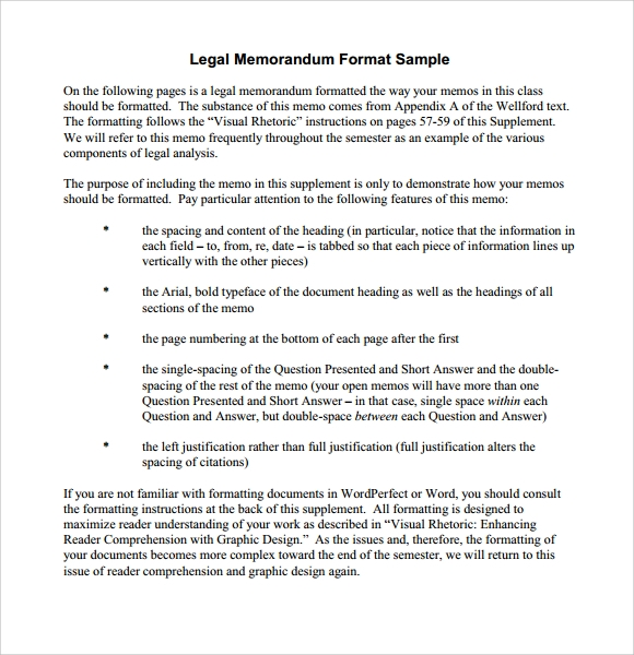 formal legal memorandum template
