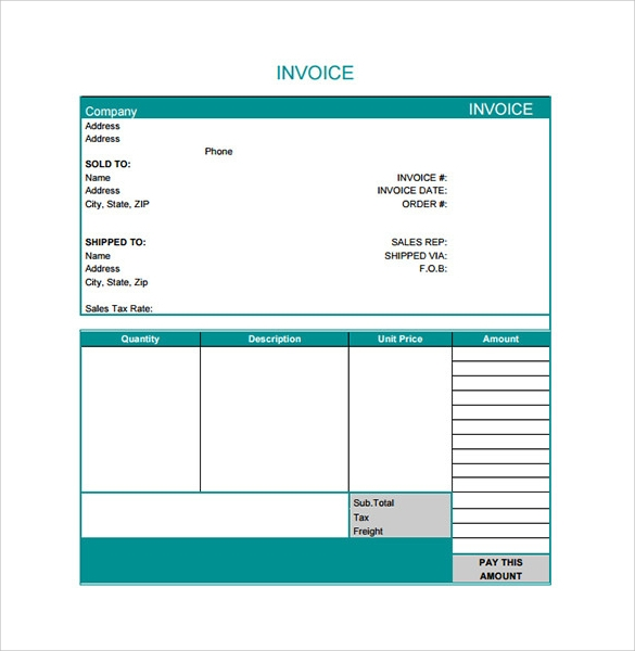 Free Freelance Invoice Templates In Word And Excel  WiseproofNet