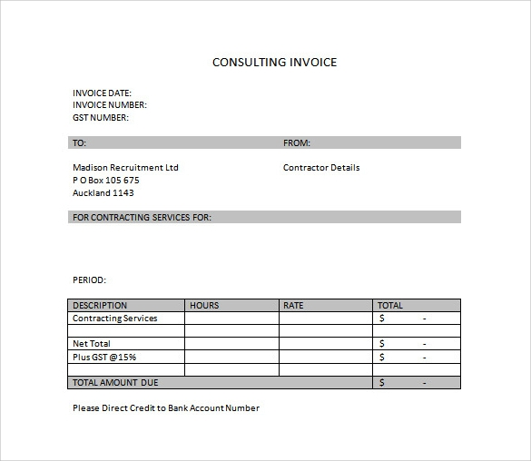 sample invoice template - download free documents in word, pdf, excel, Invoice examples