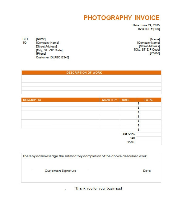 Invoice Templates Sample Templates - Formal invoice sample