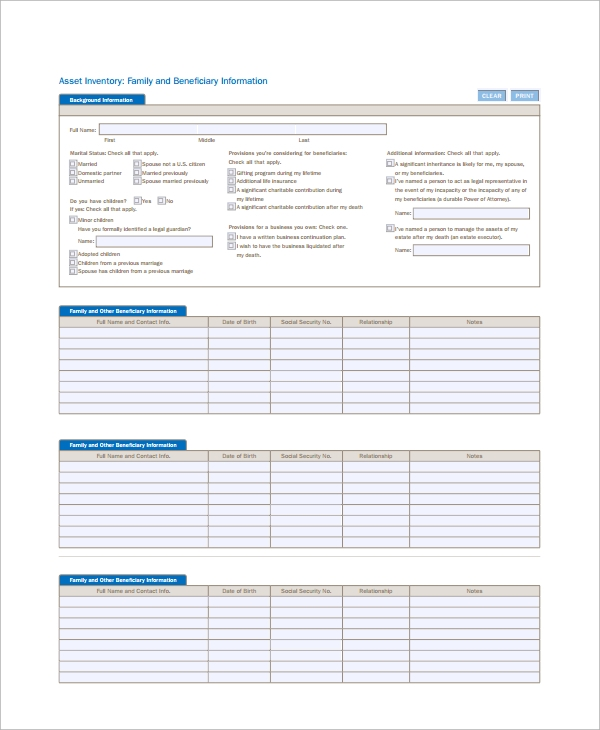 Sample It Inventory Template   Free Documents Download In Pdf Excel
