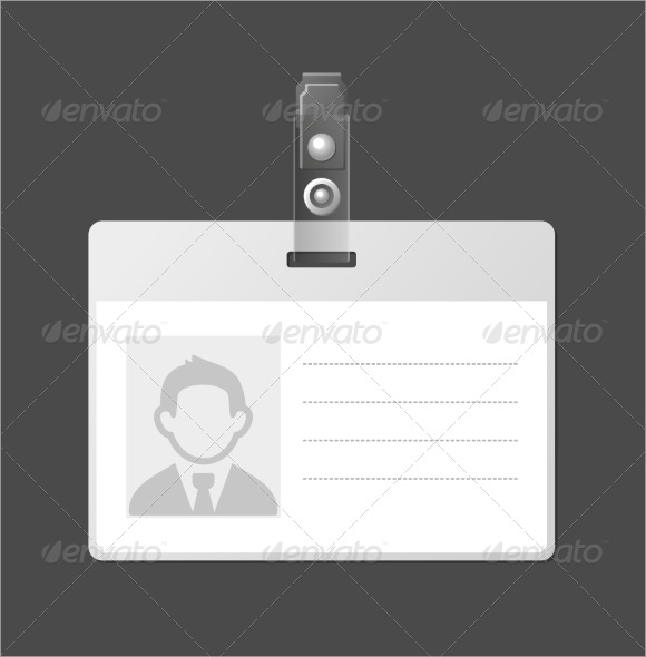 Sample Blank ID Card Template Download In PSD - Card template free: blank id card template