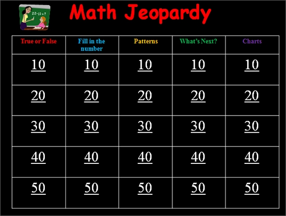 Blank Jeopardy Template   Download Documents In Pdf  Ppt
