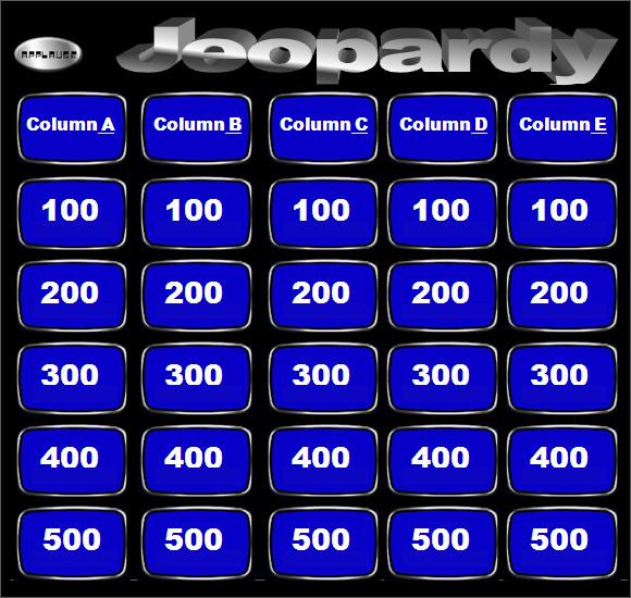 blank jeopardy template - solarfm.tk