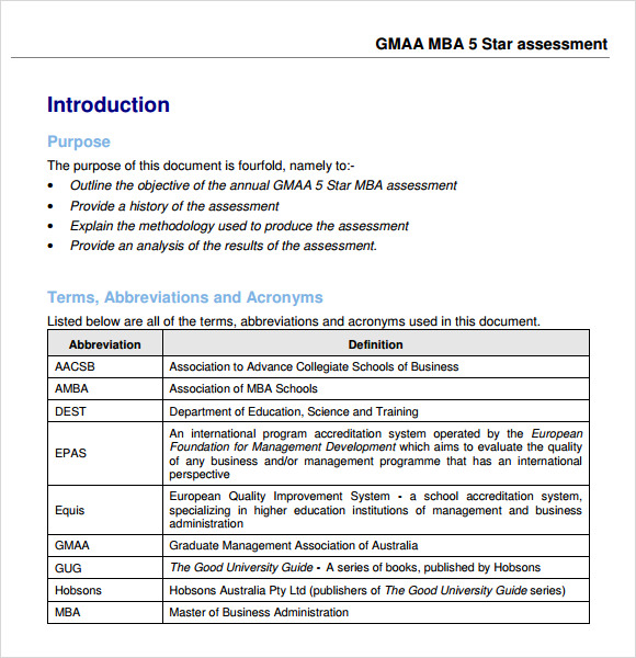 Sample Star Assessment Template   Free Documents In Pdf