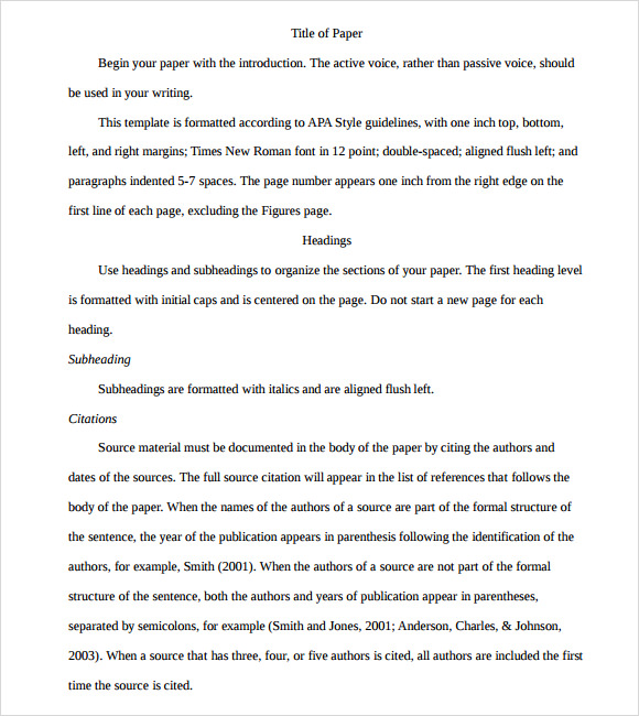 Journalism apa essay template