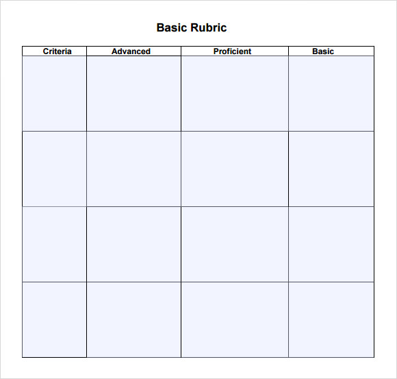 Blank Rubric Template - 7 Download Free Documents in PDF , Word ...