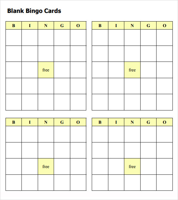 Blank Bingo Template   9  Download Free Documents in PDF Word H2dNm3CN