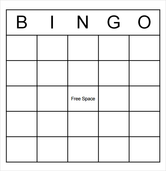 Sample Blank Bingo   Documents In Word Pdf