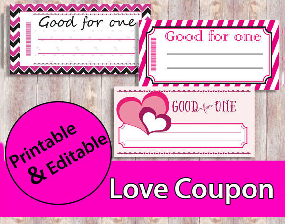 10 sample blank coupon templates to download sample for Love coupon template for word