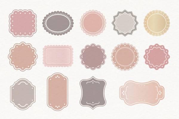 blank label sticker template