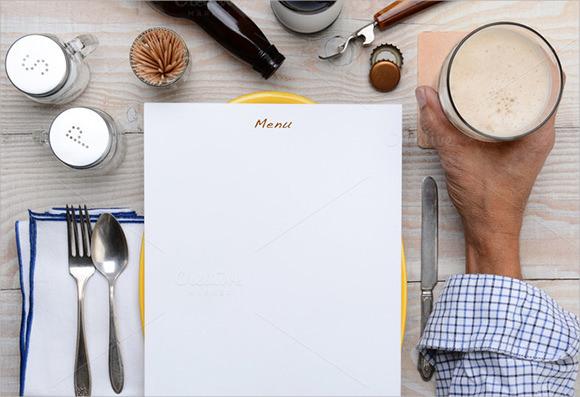 sample blank menu template