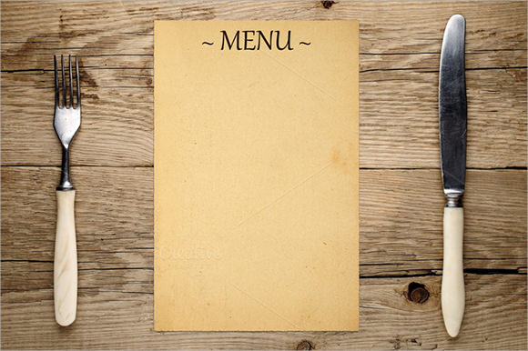 blank menu template pictures