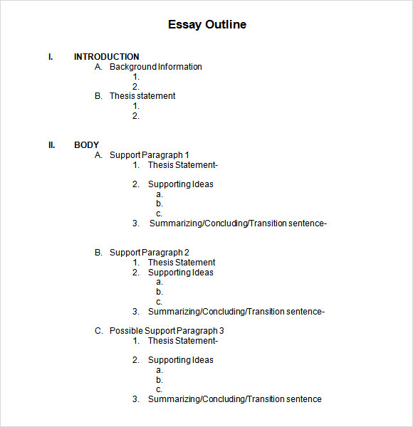 Essays outline form