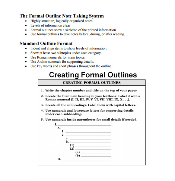 Sample Blank Outline Template 7 Free Documents in PDF DOC – Outline Template