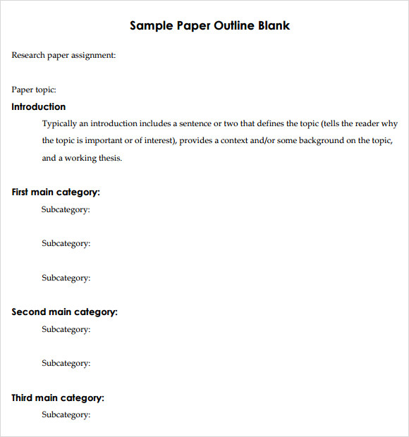 Research paper services outline template microsoft word