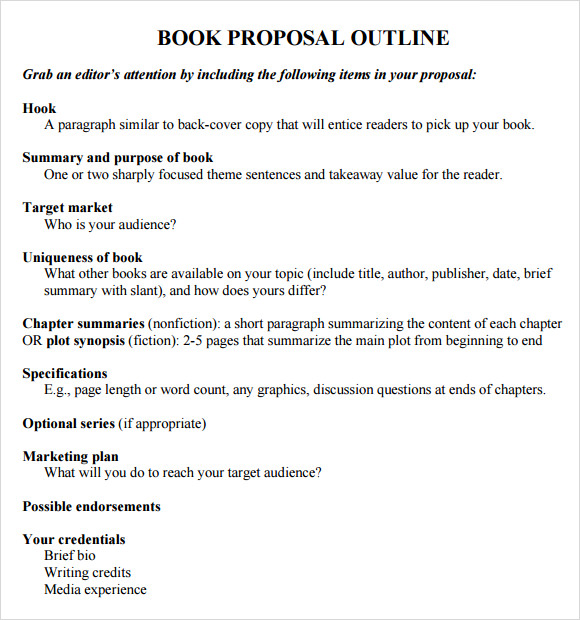 book proposal outline template
