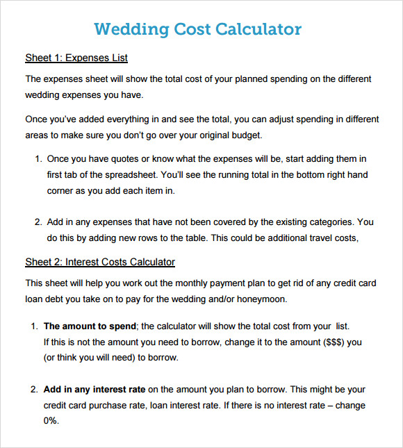 budget calculator template
