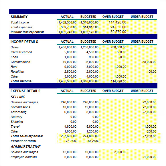 Sample Budget Plan   Documents In Pdf Word Excel