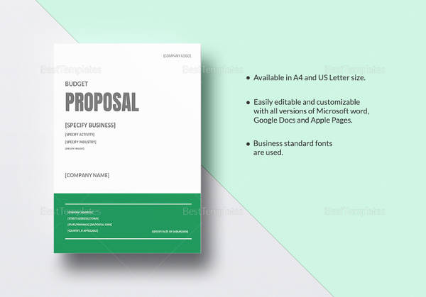 Budget Proposal Template  It Proposal Template Word