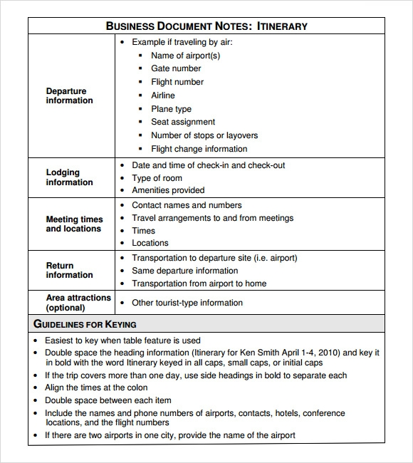 Business itinerary template 7 download free documents in pdf excel business document itinerary template cheaphphosting Gallery