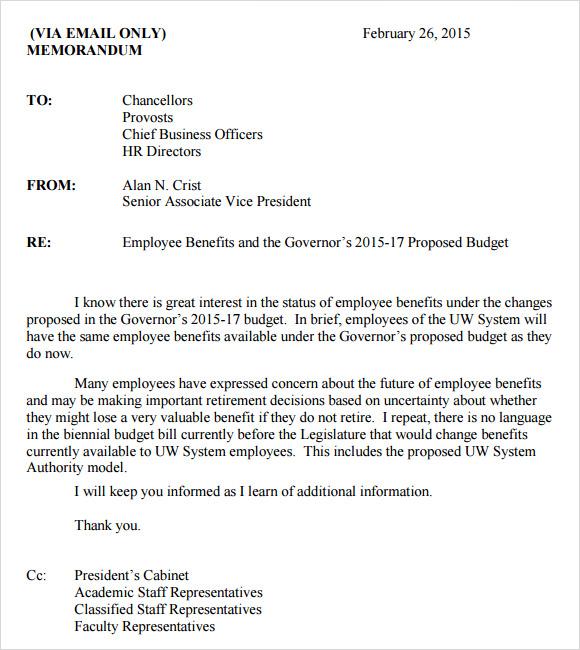 Business Memo Template U2013 6 Download Free Documents In PDF , Word U2026