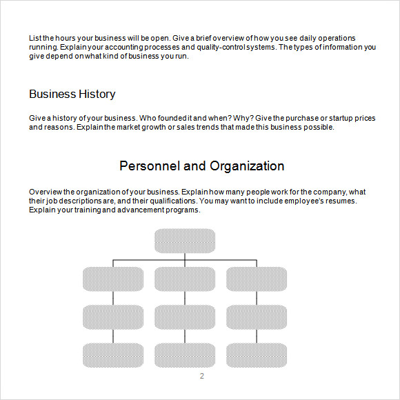 business plan outline template word