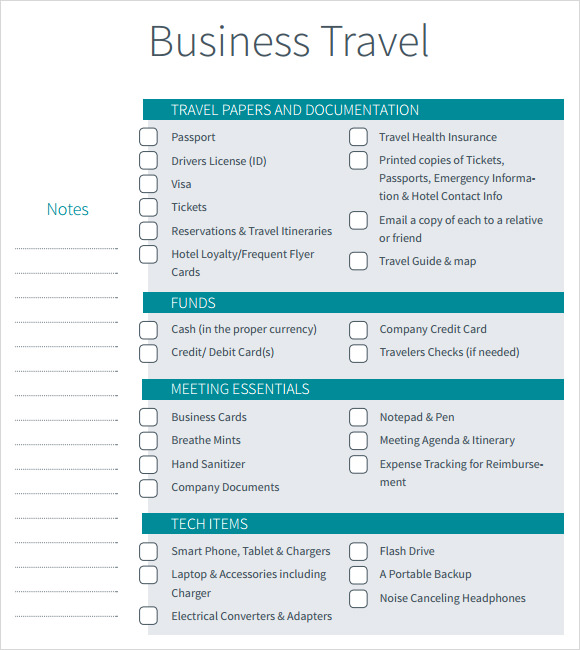 Business travel itinerary template flashek Images