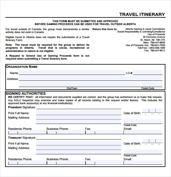 Business Travel Itinerary Template   Download Free Documents In Pdf