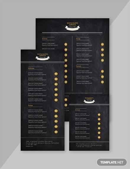 free 22  blank menus templates in ai