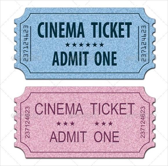 sample movie ticket template