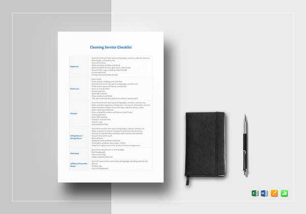 cleaning service checklist template1