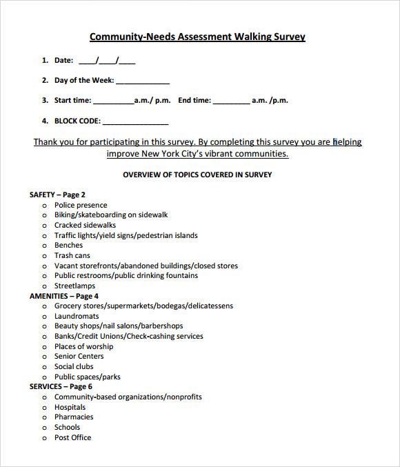 needs assessment template word .