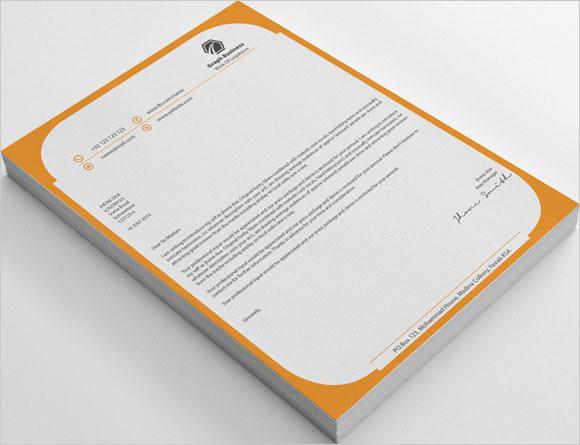company graph letterhead