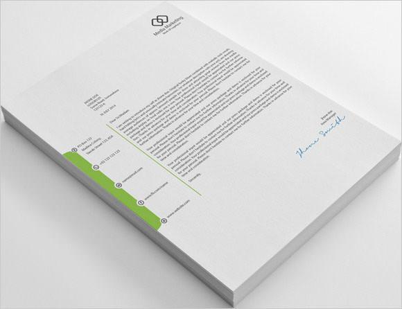 company marketing letterhead