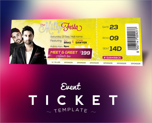 Sample Concert Ticket Template 14 Documents in PSD – Entry Ticket Template