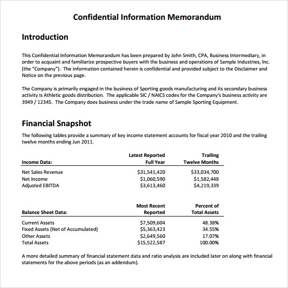 Sample Confidential Memo 7 Documents in PDF Word – Confidential Memo Template